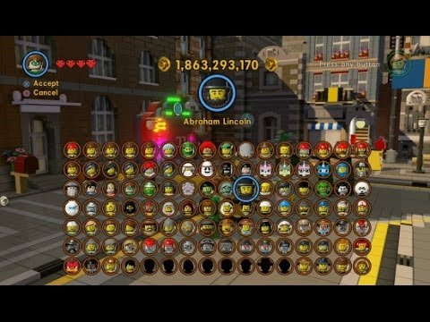 LEGO - This video shows an updated character grid for The LEGO Movie Videogame that shows all 105 Characters unlocked. I do not think there are any more bonus chara...