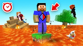 Minecraft BUT LAVA RISES Every MINUTE w/ The Pack