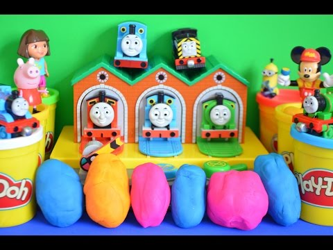 thomas - Play-Doh surprise eggs Thomas and friends peppa pig mickey mouse clubhouse dora the explore watch play-doh surprise eggs being open what will we find in this surprise egg video fun fun fun...