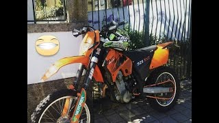 9. Ktm 525 exc 2006 cold start - bike overall view