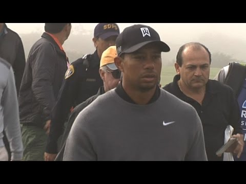 Tiger Woods' practice round at Farmers Insurance Open
