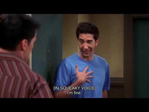 Friends - Ross reacts to Rachel and Joey Kiss. | Friends Rewind |