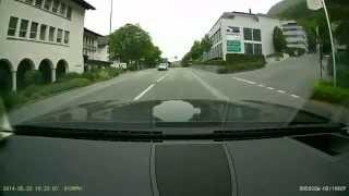 Driving in Vaduz, the capital of Liechtenstein - 22nd May 2014.