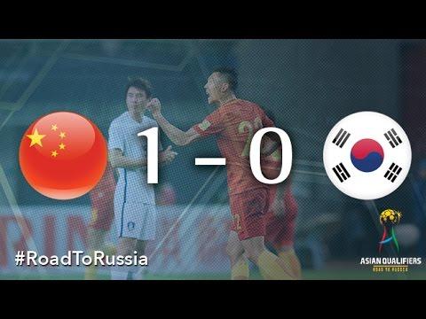 Китай - Южная Корея 1:0. Видеообзор матча 23.03.2017. Видео голов и опасных моментов игры