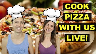 LIVE STREAM COOKING SHOW/ DEMO 🤤 VEGAN PIZZA!!