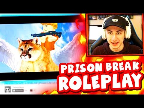 REACTING TO A HILARIOUS ROBLOX PRISON ESCAPE ROLEPLAY