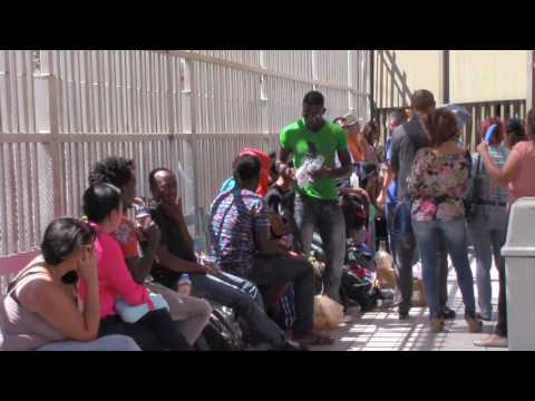 Hundreds from Haiti and African countries seek political asylum in Calexico