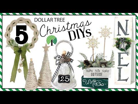 5 NEW Dollar Tree Christmas DIYs   High End Farmhouse Easy and Fun DIYs   Friend Friday