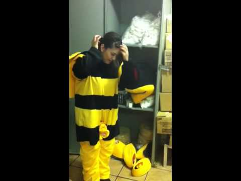 Nayely and the bee suit
