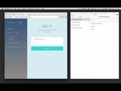 Meteor iOS — Todos example