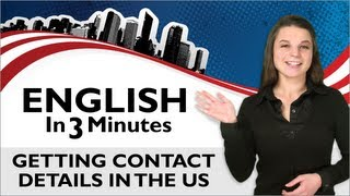 Getting Contact Details, What's your phone number?, English in 3 Minutes