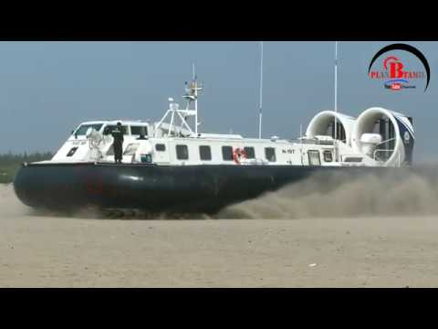 Indian Navy Hovercraft departs silver beach