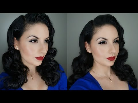 Classic Pin-Up Makeup And Hair Tutorial | Cómo Hacer Un Maquillaje Pin Up Y Peinado