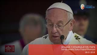 HOMILÍA Y HOMENAJE DEL PAPA Santa María Salus Populi