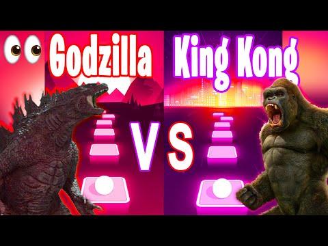 Godzilla Song VS King Kong Song - Tiles Hop Edm RUSH!