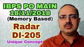 Data Interpretation-205 (Radar DI) IBPS PO Main 18-11-1018 Memory Based The Best Approach