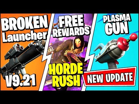 *NEW* Fortnite Update *RIGHT NOW* | FREE REWARDS, PROXIMITY GRENADE LAUNCHER (Patch Notes V9.21)