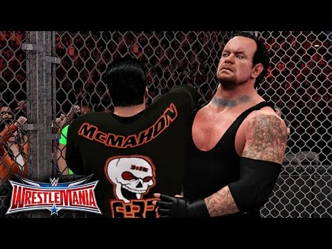 WWE Wrestlemania 32 - The Undertaker vs Shane Mcmahon Hell In A Cell Match
