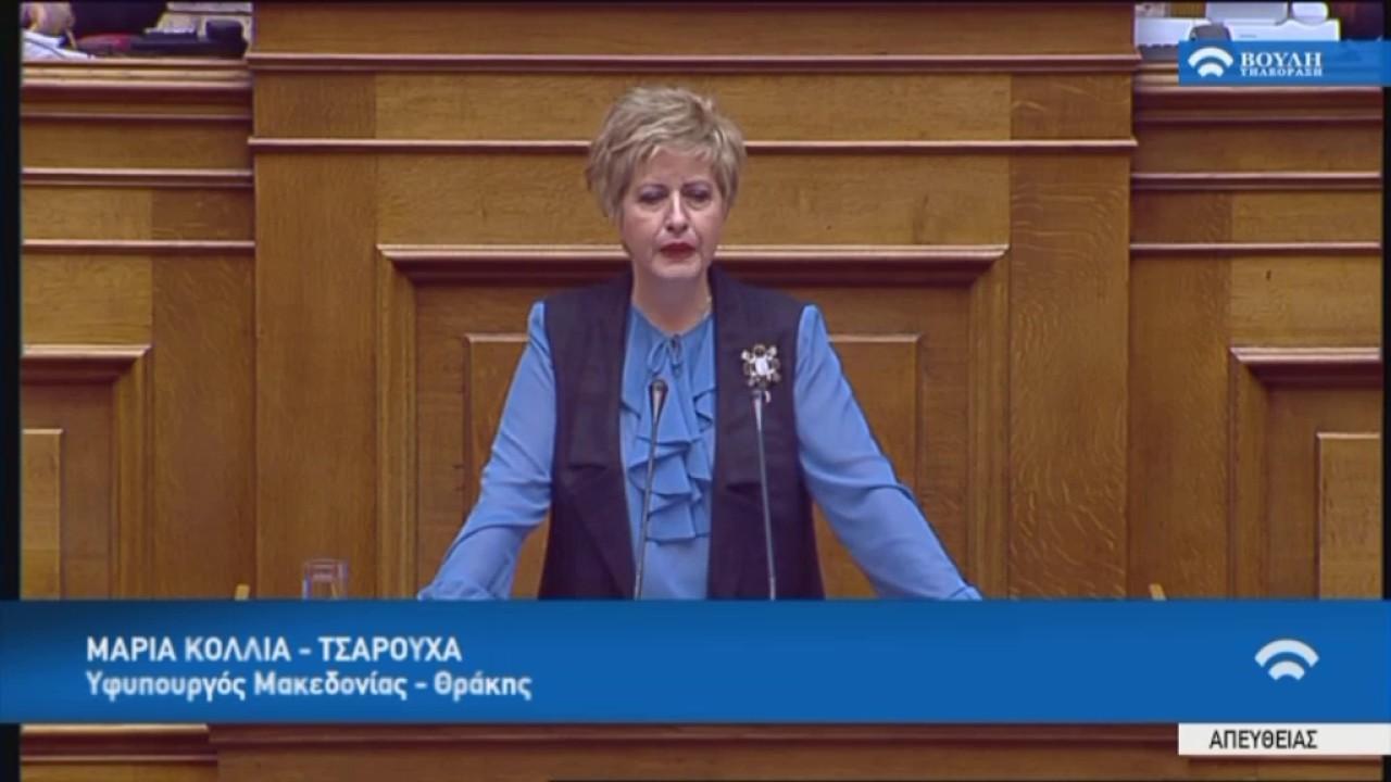 Προϋπολογισμός 2017 :Μ.Κόλλια-Τσαρουχά(Υφ.Μακεδονίας-Θράκης) (09/12/2016)