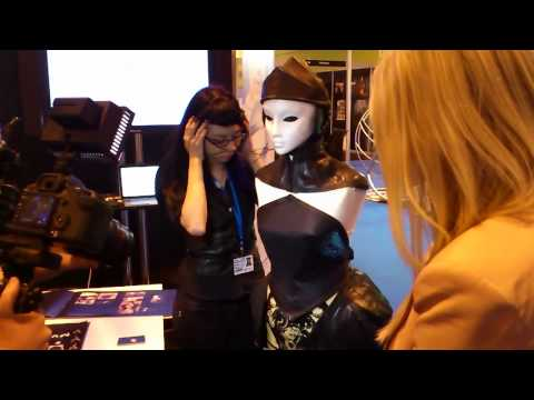 Gadget Show Live 2012: Nange demonstrates the mind-controlled dress at the NeuroSky booth