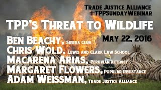 May 22, 2016 TPP's Threat to Wildlife w/ Ben Beachy, Senior Policy Adviser, Sierra Club Responsible Trade Program and Chris Wold, Lewis and Clark Law ...