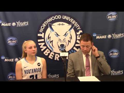 Northwood University Women's Basketball (2/4/16) NU 92, Hillsdale College 64 - Press Conference