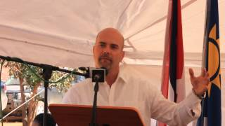 Otavi Namibia  city pictures gallery : Gerardo Hernández speaks at Otavi Namibia 5 July 2015