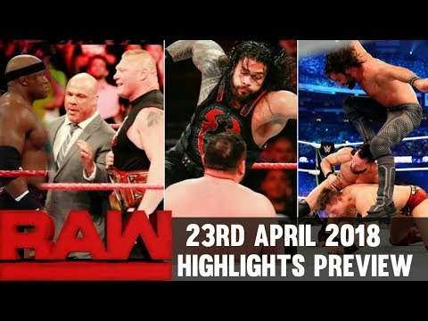 WWE Monday Night Raw 23rd April 2018 Hindi Highlights Preview