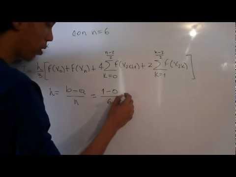 Metodo de Simpson 1/3 - Integracion Numerica - Regla de Simpson 1/3