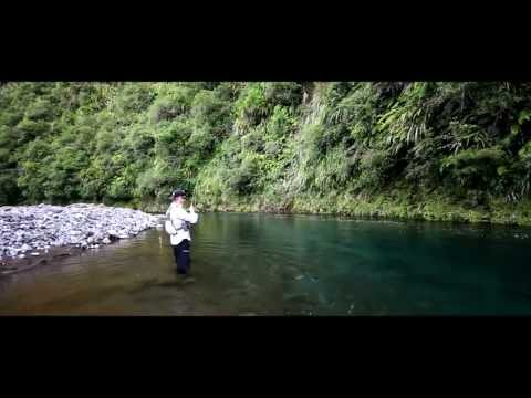 New Zealand (Country) - Fly fishing in New Zealands North Island Back Country rivers.
