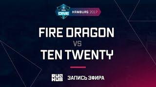 Fire Dragon vs Ten Twenty, ESL One Hamburg 2017, game 2 [Adekvat]
