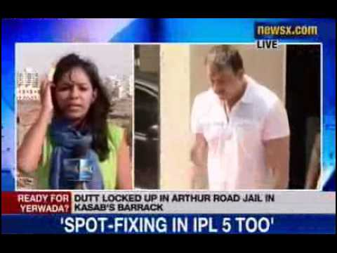 sanjay - NewsX: Bollywood actor Sanjay Dutt is still lodged in Arthur Road jail, after he surrendered on Thursday in 1993 blasts case. Dutt is holed up in a dark barr...