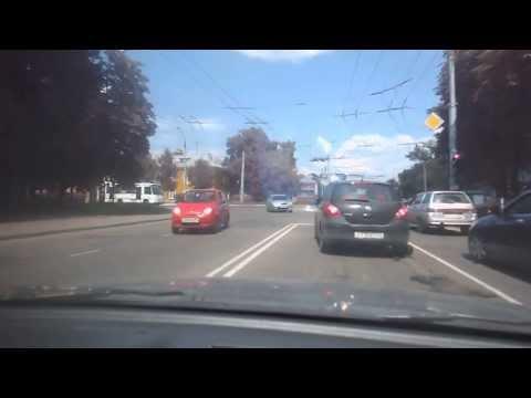 Car Peels Asphalt off the Road in Russia