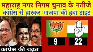नगर निगम : महाराष्ट्र में कांग्रेस की जीत , भाजपा की हवा टाइट ।  Civic poll result Maharashtra