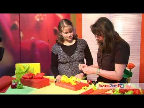 Bastelzeit TV 41 - Geschenkverpackung mit Kräuselkrepp
