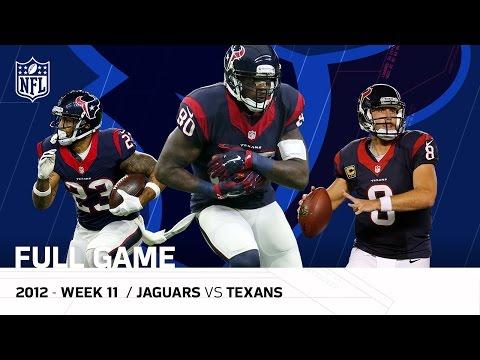 Andre Johnson & Matt Schaub Lead Texans Comeback, OT Win vs. Jaguars (Week 11, 2012)   NFL Full Game (видео)