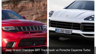 BATTLE!!!  Jeep Grand Cherokee SRT Trackhawk vs Porsche Cayenne Turbo—Forza Motorsport 7