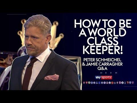 How to be a world class goalkeeper! | Peter Schmeichel & Jamie Carragher | Twitter Q&A (видео)