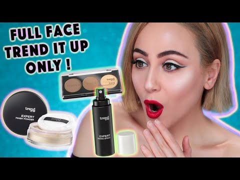 FULL FACE USING ONLY Trend It Up PRODUCTS | Lidschatten ALBTRAUM 💀 | Hatice Schmidt