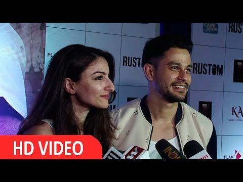 Kunal Khemu & Soha Ali Khan At Premier Of Movie Rustom