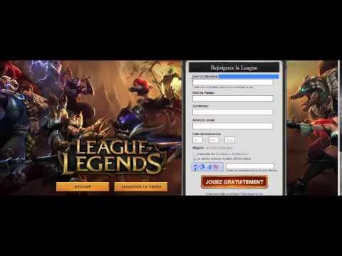 comment s'inscrire sur league of legend