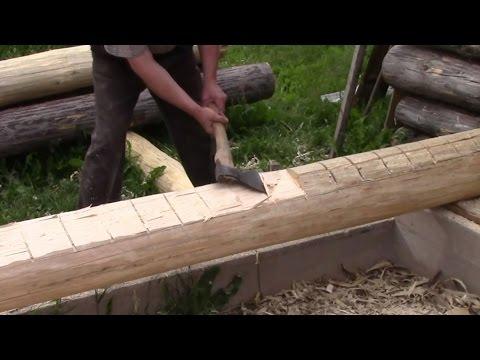 Как поставить сруб из бревен