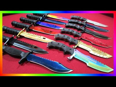 Huge Real Life CS:GO Knife Unboxing! M9 Doppler Ruby, Sapphire, Tiger Tooth & More!