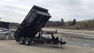 9. Ironbull 7x14' 14000# Low Profile Hydraulic Dump Trailer 3' High Sides