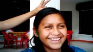 Girl In Panajachel, Lago De Atitlan, Guatemala Doing A Pimsleur English Lesson