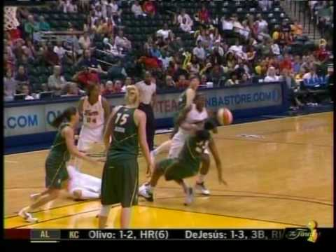 WNBA Seattle Storm vs. Indiana Fever - June 9, 2009 - Katie Douglas Face Injury