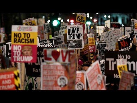 Βρετανία: Διαδηλώσεις κατά Τραμπ