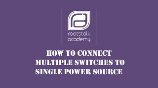 How to connect multiple DTDP switches with Single Power Source