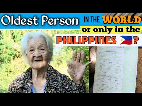 Oldest Person in The World ( or only Oldest Person in the Philippines? ) Lola Francisca Susano