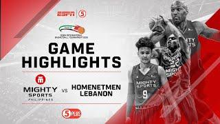 Highlights: Mighty Sports vs. Homenetmen Lebanon   2019 Dubai International Basketball Championship